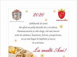 felicitare revelion 2020 Hincesti